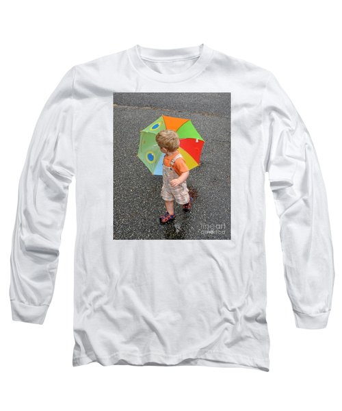 Long Sleeve T-Shirt featuring the photograph Walking In The Rain by Sami Martin