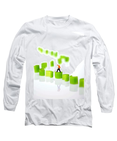 Walking On Celery  Long Sleeve T-Shirt by Paul Ge