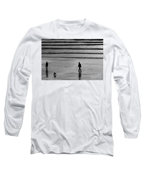 Long Sleeve T-Shirt featuring the photograph Walking The Dog At Marazion by Brian Roscorla
