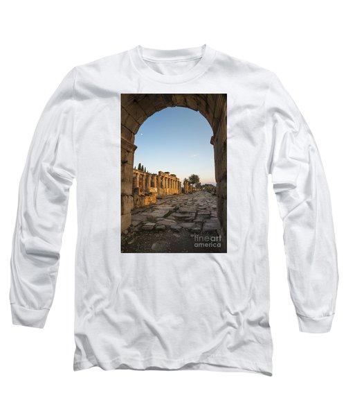 Walking The History In Hierapolis Long Sleeve T-Shirt by Yuri Santin