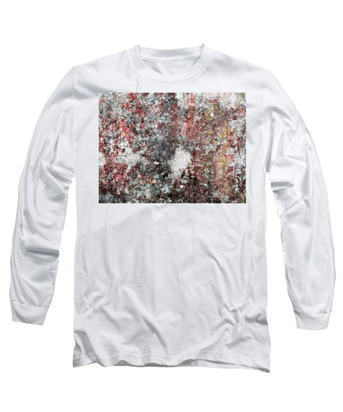 Wall Abstract 103 Long Sleeve T-Shirt by Maria Huntley