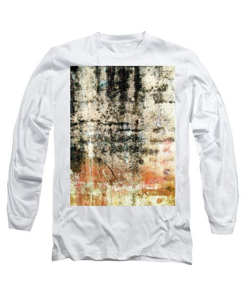 Wall Abstract 182 Long Sleeve T-Shirt by Maria Huntley