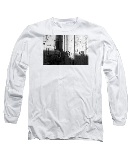 Wall Pipe Shadows Long Sleeve T-Shirt by Catherine Lau