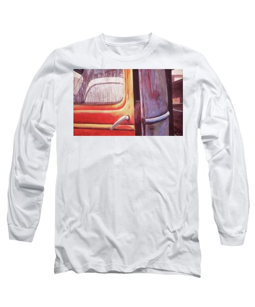 Long Sleeve T-Shirt featuring the painting Walter by Laurie Stewart