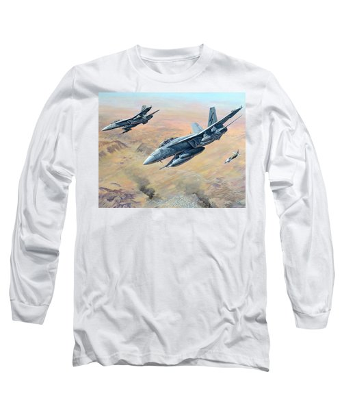 War On Terror Long Sleeve T-Shirt by Colin Parker