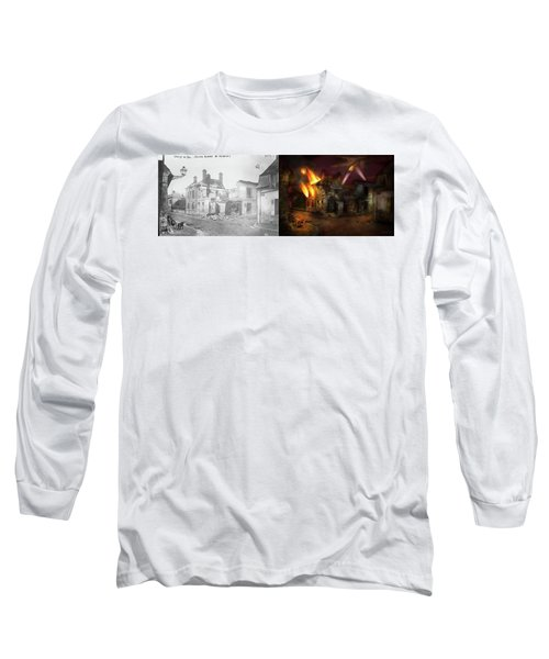 Long Sleeve T-Shirt featuring the photograph War - Wwi -  Not Fit For Man Or Beast 1910 - Side By Side by Mike Savad
