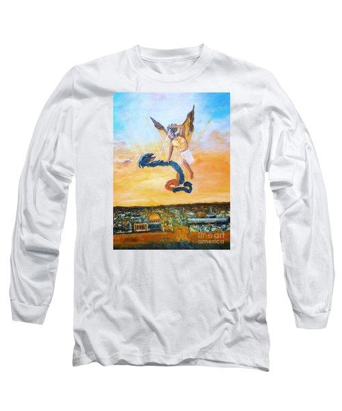 Warfare Rev 12 Vs7 Long Sleeve T-Shirt by Donna Dixon