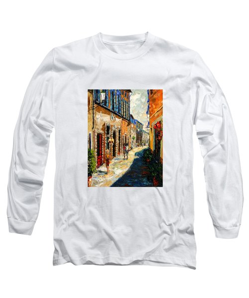 Warmth Of A Barcelona Street Long Sleeve T-Shirt by Andre Dluhos