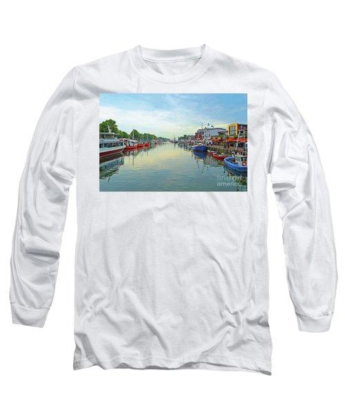 Warnemunde Germany Port Long Sleeve T-Shirt by Eva Kaufman