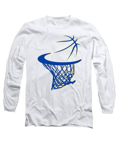 Warriors Basketball Hoop Long Sleeve T-Shirt by Joe Hamilton
