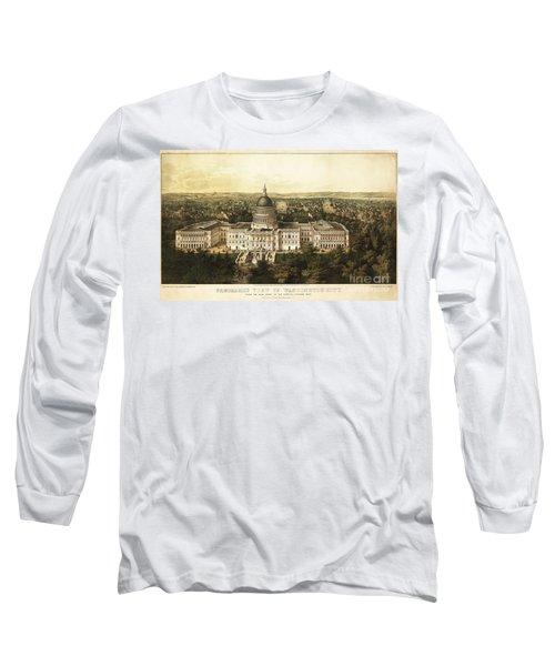 Washington City 1857 Long Sleeve T-Shirt by Jon Neidert