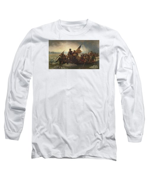 Washington Crossing The Delaware Long Sleeve T-Shirt by War Is Hell Store