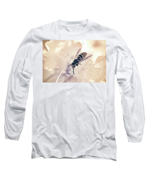 Long Sleeve T-Shirt featuring the photograph Wasp In Ir by Brian Hale