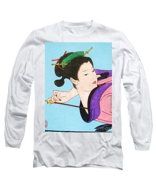 Watashi No Senaka O Kaite Long Sleeve T-Shirt by Roberto Prusso