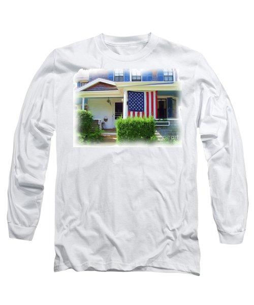 Watch Hill Ri Cottage Long Sleeve T-Shirt by Joan Hartenstein