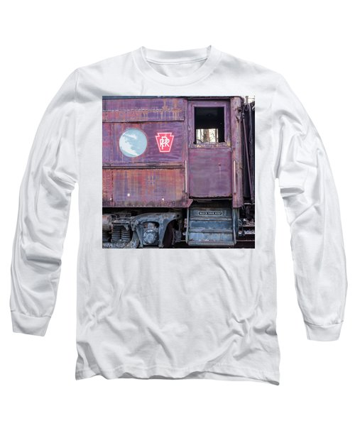 Watch Your Step Vintage Railroad Car Long Sleeve T-Shirt by Terry DeLuco