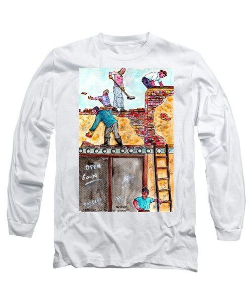 Watching Construction Workers Long Sleeve T-Shirt
