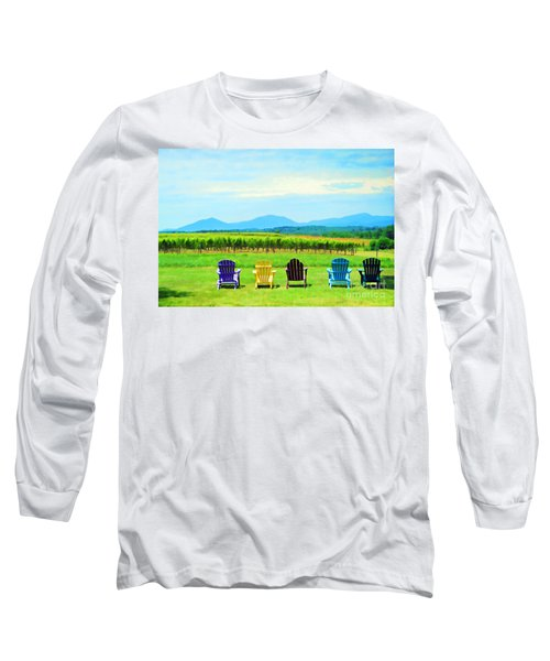 Watching The Grapes Grow Long Sleeve T-Shirt