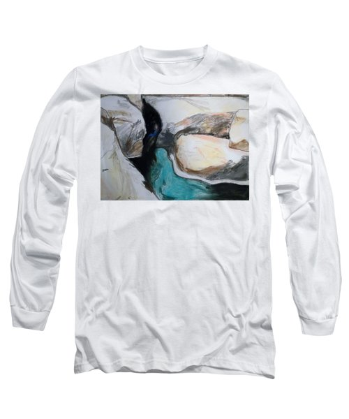 Water Between The Rocks Long Sleeve T-Shirt by Esther Newman-Cohen