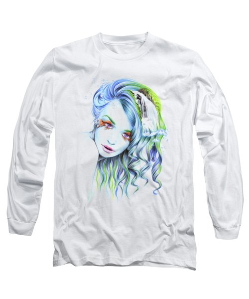 Water Long Sleeve T-Shirt by E Drawings