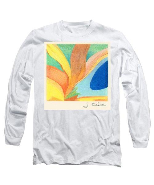Water Grass Blue Pond Long Sleeve T-Shirt
