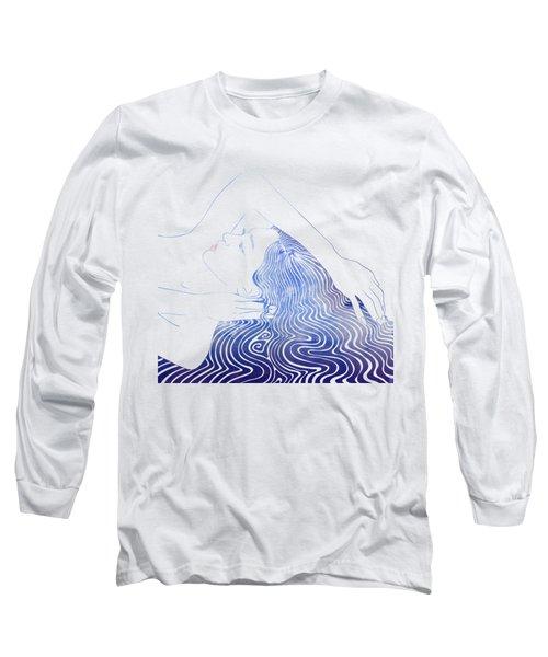 Water Nymph Lxxix Long Sleeve T-Shirt by Stevyn Llewellyn