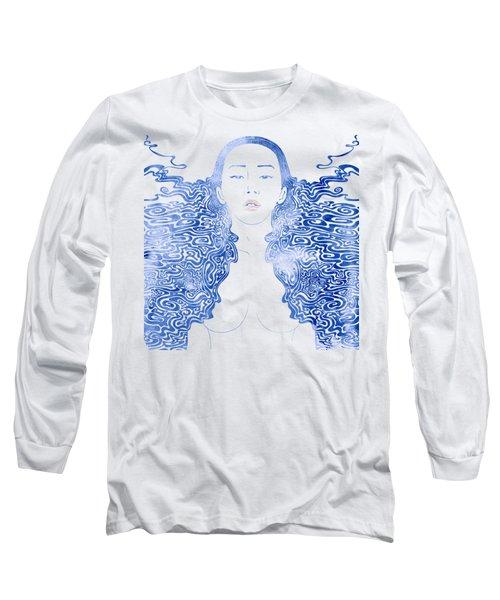 Water Nymph Lxxx Long Sleeve T-Shirt by Stevyn Llewellyn
