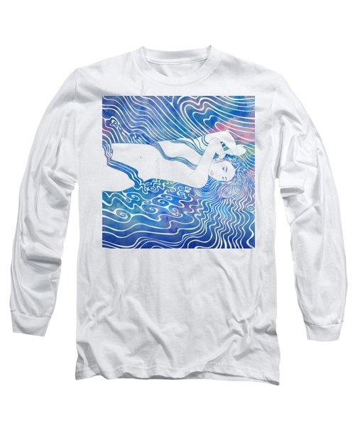 Water Nymph Lxxxiii Long Sleeve T-Shirt by Stevyn Llewellyn
