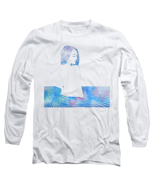 Water Nymph Lxxxiv Long Sleeve T-Shirt by Stevyn Llewellyn