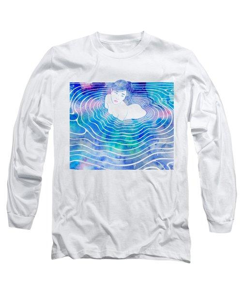 Water Nymph Lxxxix Long Sleeve T-Shirt by Stevyn Llewellyn