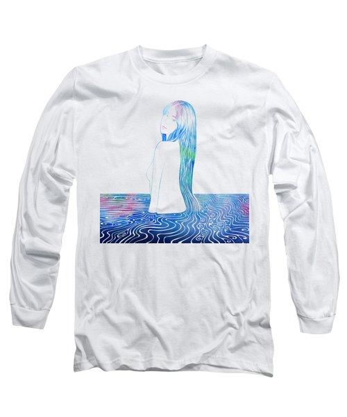 Water Nymph Lxxxv Long Sleeve T-Shirt by Stevyn Llewellyn