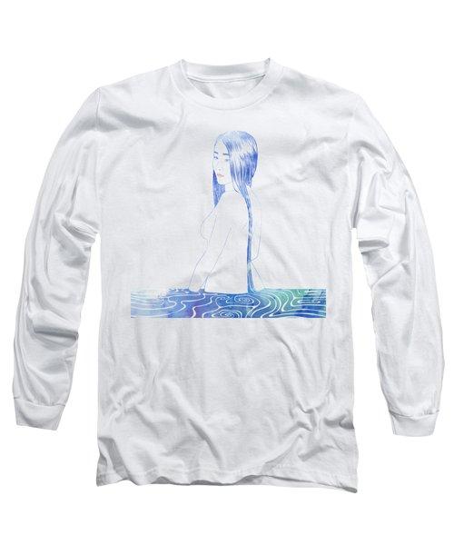 Water Nymph Xcii Long Sleeve T-Shirt by Stevyn Llewellyn