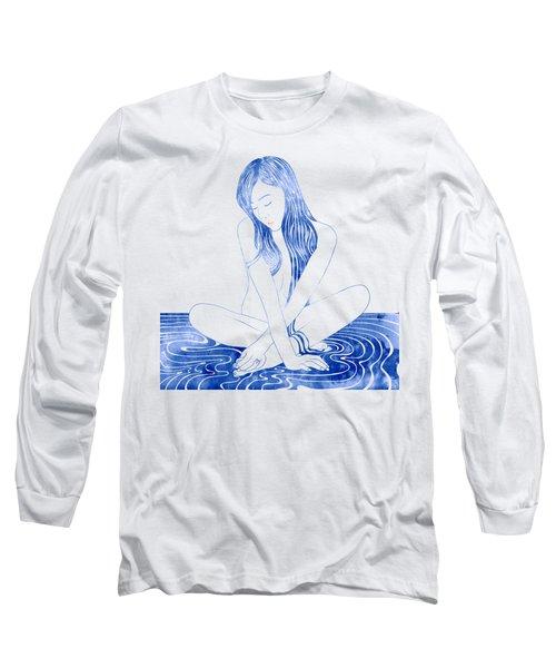 Water Nymph Xcviii Long Sleeve T-Shirt by Stevyn Llewellyn