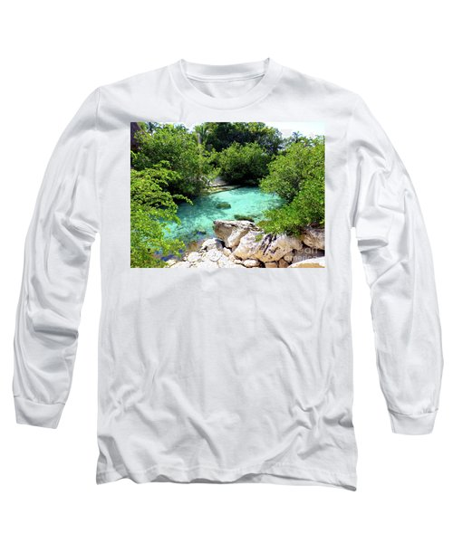 Long Sleeve T-Shirt featuring the photograph Water Shallows by Francesca Mackenney