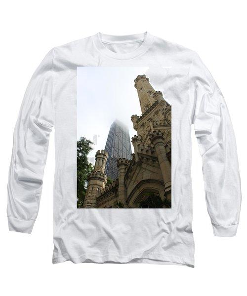Water Tower And Hancock Long Sleeve T-Shirt