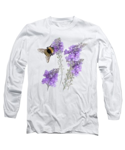 Watercolor Bumble Bee Long Sleeve T-Shirt by Ivana Westin