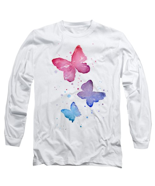 Watercolor Butterflies Long Sleeve T-Shirt
