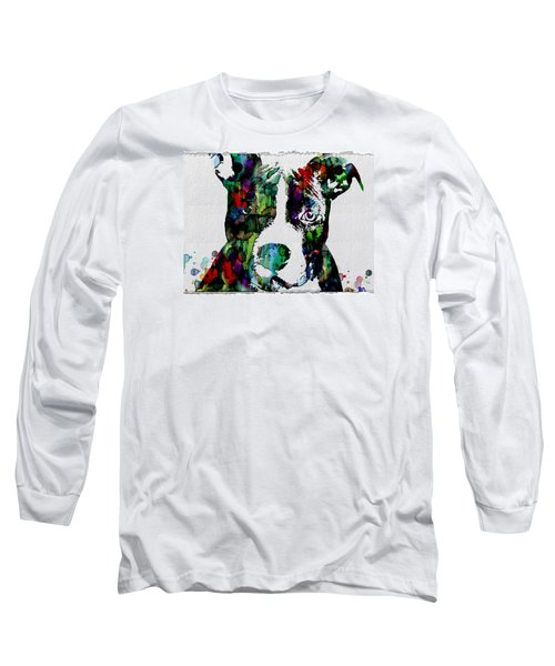 Watercolor Dog Art Prints And Posters Long Sleeve T-Shirt