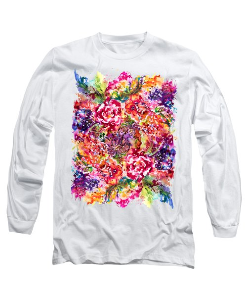 Watercolor Garden IIi Long Sleeve T-Shirt