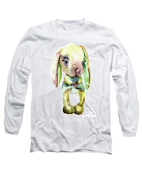 Watercolor Illustration Of Rabbit Long Sleeve T-Shirt