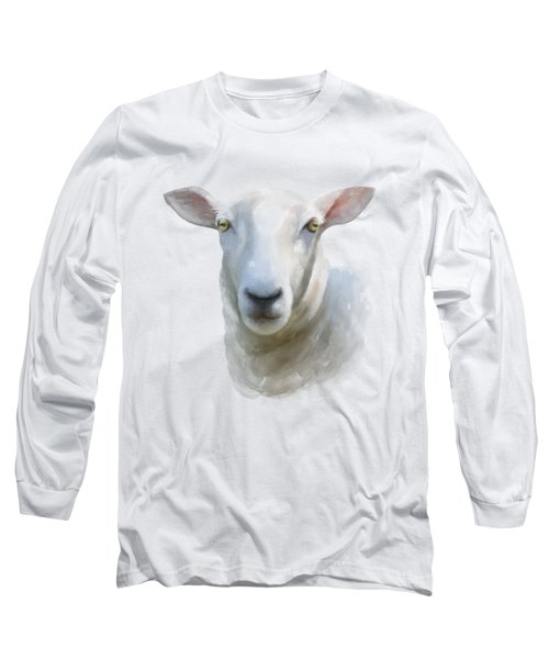 Watercolor Sheep Long Sleeve T-Shirt