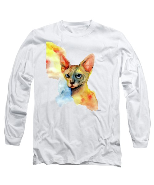 Watercolor Sphynx 2 Long Sleeve T-Shirt
