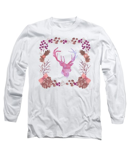 Watercolors In The Wilderness Long Sleeve T-Shirt