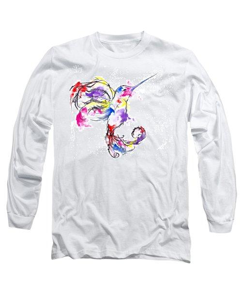 Watercolour Hummingbird Long Sleeve T-Shirt