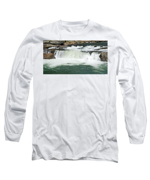 Waterfall At Ohiopyle State Park Long Sleeve T-Shirt