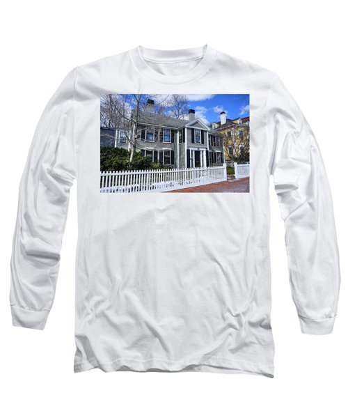 Long Sleeve T-Shirt featuring the photograph Waterhouse House In Cambridge by Wayne Marshall Chase