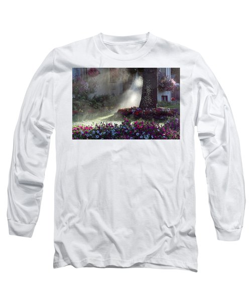 Watering The Lawn Long Sleeve T-Shirt by Keith Boone