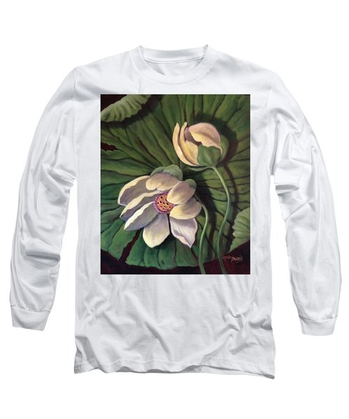 Waterlily Like A Clock Long Sleeve T-Shirt