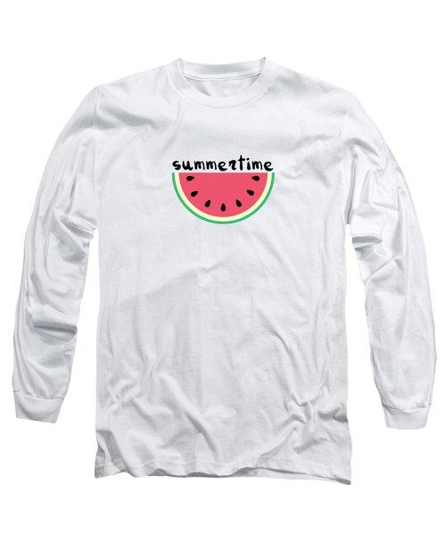 Watermelon Long Sleeve T-Shirt by Alina Krysko