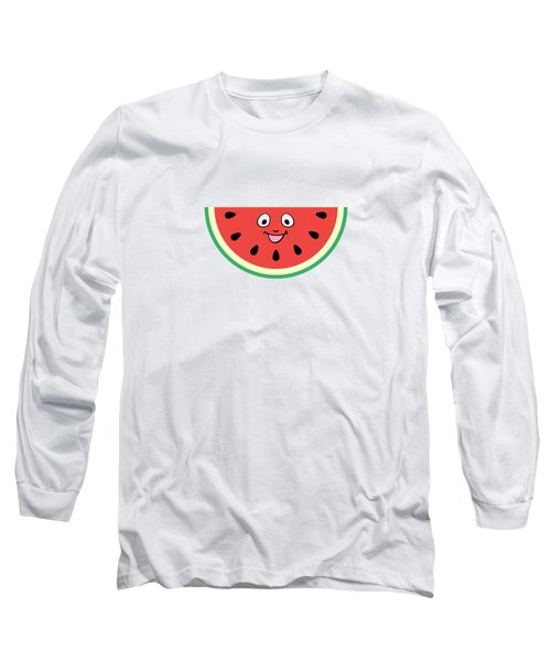 Watermelon Ornament Long Sleeve T-Shirt by Alina Krysko